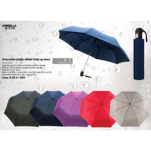 Avtomatski zložljiv dežnik Foldy up-down