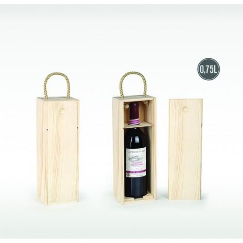 Lesena škatla za steklenico