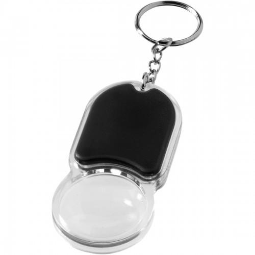 Obesek za ključe s povečevalnim steklom