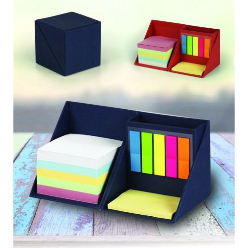 Kartonska kocka z lističi