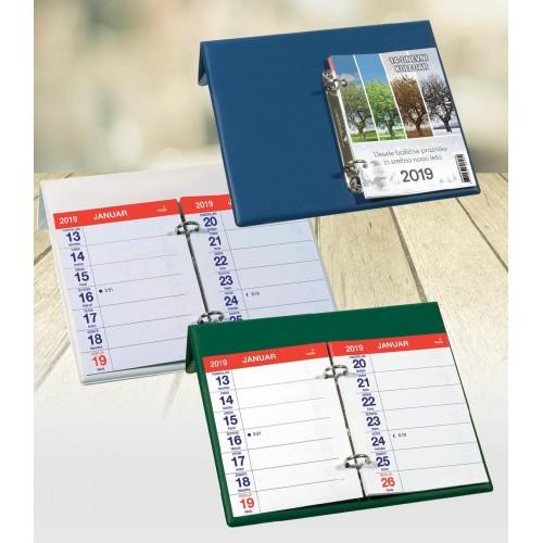 Namizni koledar s fiksno steno
