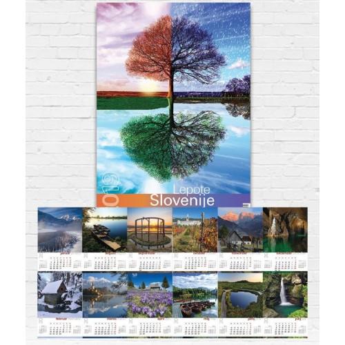 Stenski koledar lepote Slovenije
