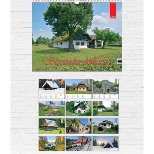 Stenski koledar slovenske domačije