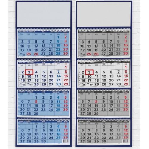 Stenski štiridelni poslovni koledar
