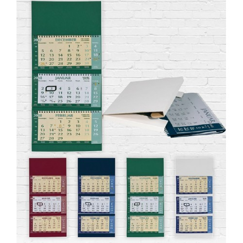 Stenski tridelni poslovni koledar