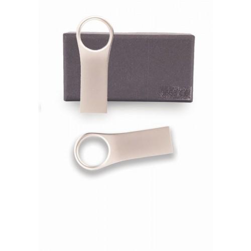 USB KLJUČEK Z OBEŠALOM 16GB V ŠKATLICI SREBRN